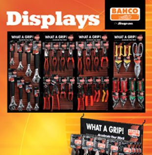 Bahco 'What a Grip' Counter Displays
